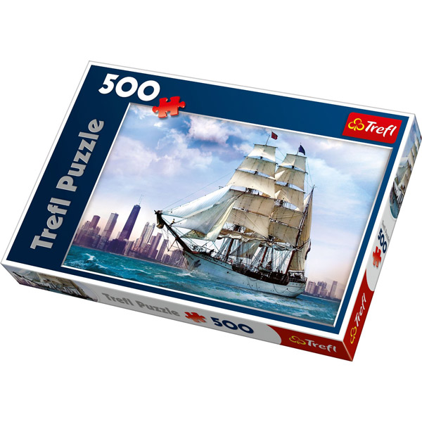 Puzzla Sailing Against Chicago 500 pcs 37120 - ODDO igračke